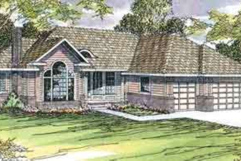 Exterior - Front Elevation Plan #124-440
