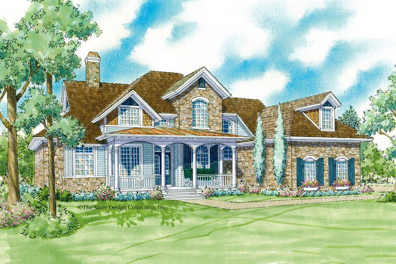 Traditional Exterior - Front Elevation Plan #930-11 - Houseplans.com