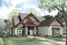Dream House Plan - Craftsman Exterior - Front Elevation Plan #17-3323