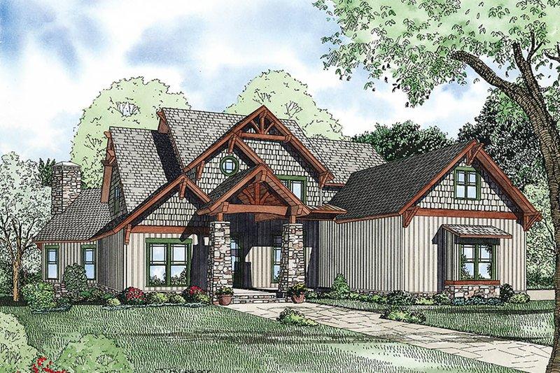 Dream House Plan - Craftsman Exterior - Front Elevation Plan #17-3323