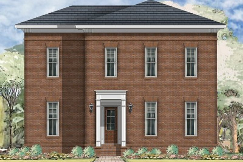 Traditional Style House Plan - 3 Beds 2.5 Baths 2670 Sq/Ft Plan #424-291 Exterior - Front Elevation