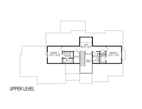 Craftsman Floor Plan - Upper Floor Plan Plan #920-45