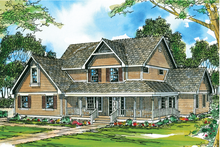 Farmhouse Exterior - Front Elevation Plan #124-193