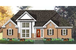 Colonial Exterior - Front Elevation Plan #3-277