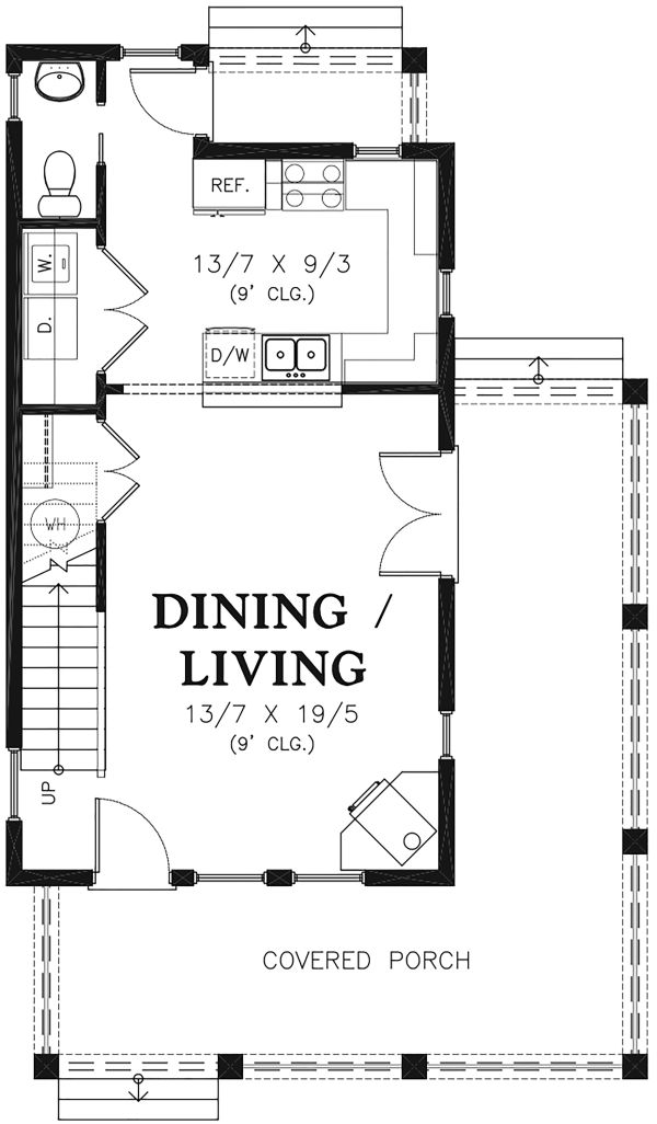 Colonial Floor Plan - Main Floor Plan Plan #48-975