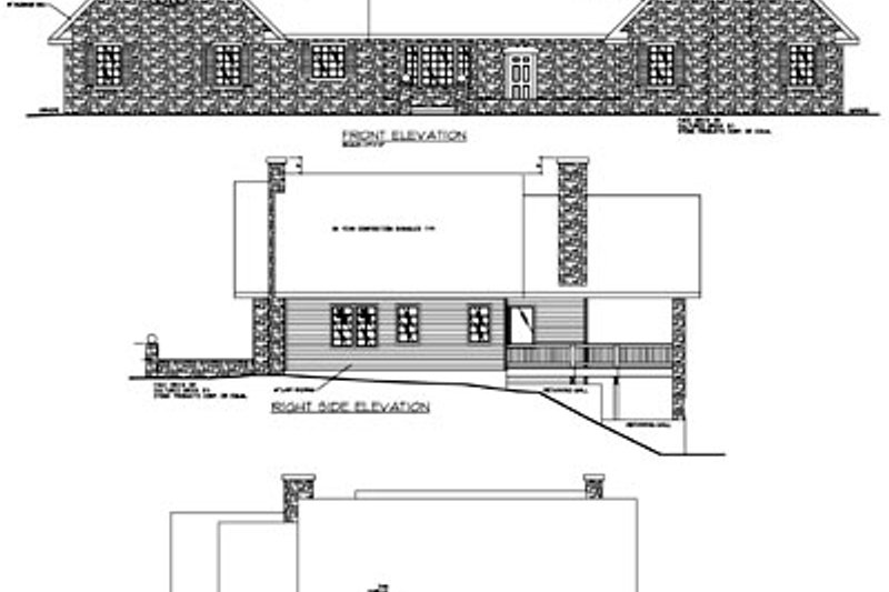 Modern Exterior - Rear Elevation Plan #117-277 - Houseplans.com
