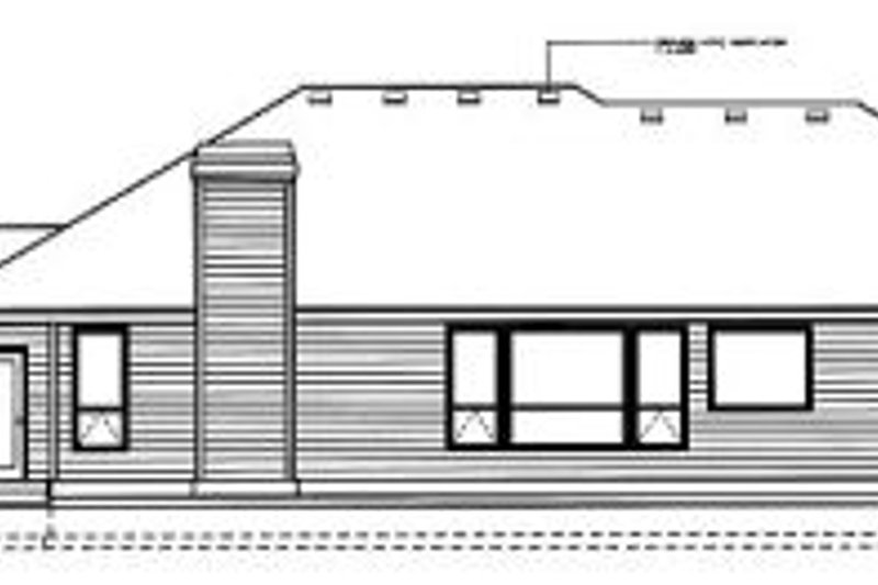 Traditional Exterior - Rear Elevation Plan #94-101 - Houseplans.com