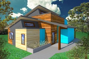 Modern Exterior - Front Elevation Plan #518-1