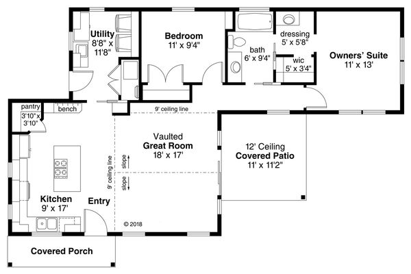 Traditional Floor Plan - Main Floor Plan Plan #124-1114