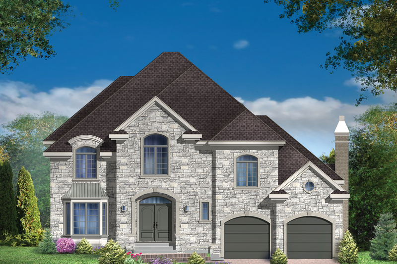 European Style House Plan - 4 Beds 2 Baths 3297 Sq/Ft Plan #25-4861 Exterior - Front Elevation