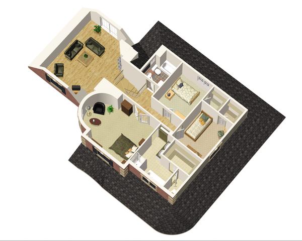 Victorian Floor Plan - Upper Floor Plan Plan #25-4691
