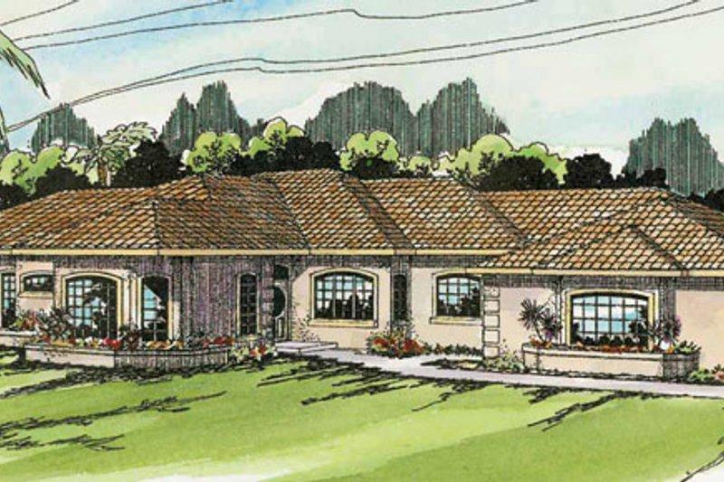 Dream House Plan - Mediterranean Exterior - Front Elevation Plan #124-132