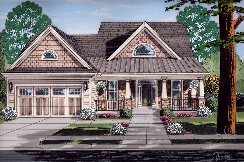 Craftsman Exterior - Front Elevation Plan #46-494 - Houseplans.com
