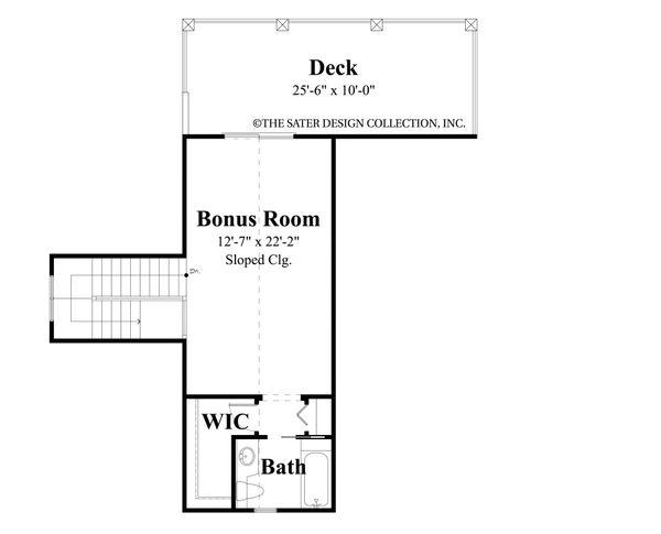 House Plan Design - Traditional Floor Plan - Upper Floor Plan #930-483