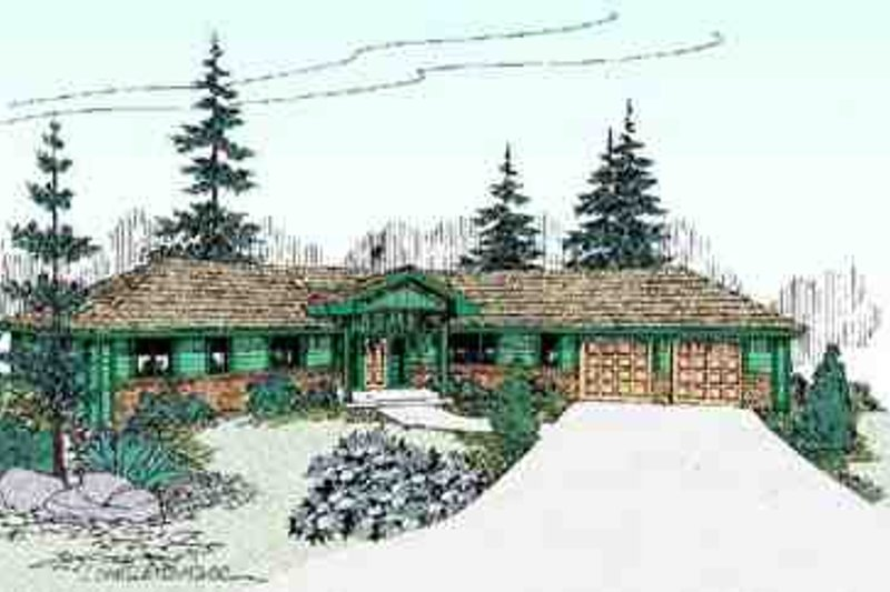 Ranch Exterior - Front Elevation Plan #60-620