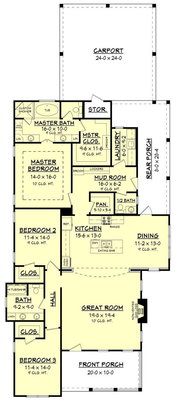 Home Plan - Traditional Floor Plan - Main Floor Plan #430-145