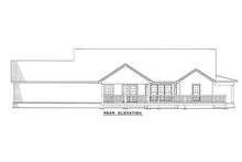 House Plan Design - Country Exterior - Rear Elevation Plan #17-235