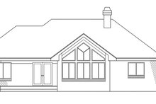 Exterior - Rear Elevation Plan #124-117