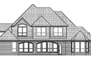 European Style House Plan - 5 Beds 4 Baths 3389 Sq/Ft Plan #84-288 Exterior - Rear Elevation