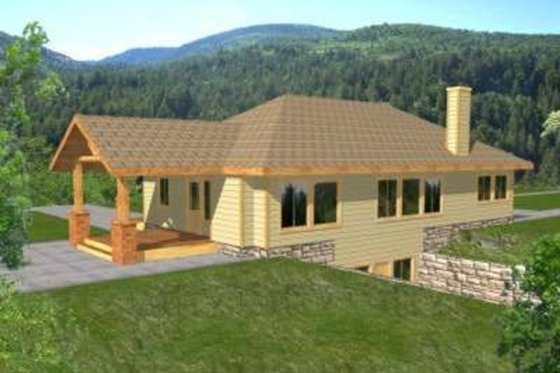 Home Plan - Traditional Exterior - Front Elevation Plan #117-356
