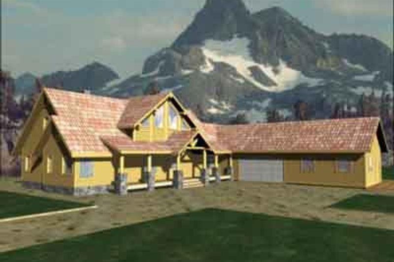 Dream House Plan - Modern Exterior - Front Elevation Plan #117-233