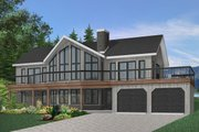 Contemporary Style House Plan - 4 Beds 3 Baths 3105 Sq/Ft Plan #23-2066 Exterior - Front Elevation