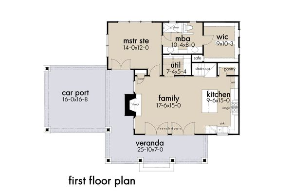 Cottage Floor Plan - Main Floor Plan #120-273