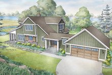 Bungalow Exterior - Front Elevation Plan #928-330