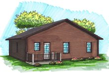 Ranch Exterior - Rear Elevation Plan #70-1016
