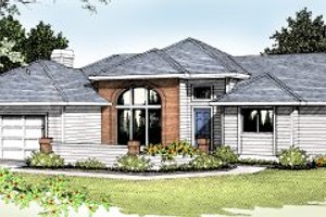 Traditional Exterior - Front Elevation Plan #87-101