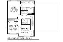 Traditional Floor Plan - Upper Floor Plan Plan #70-1160