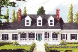 Southern Exterior - Front Elevation Plan #3-105