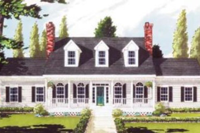 Southern Style House Plan - 5 Beds 2.5 Baths 2473 Sq/Ft Plan #3-105 Exterior - Front Elevation