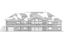 Home Plan - Traditional Exterior - Rear Elevation Plan #5-309
