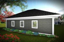 House Design - Traditional Exterior - Rear Elevation Plan #70-1450