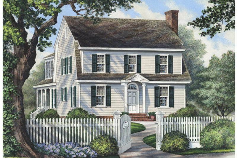 House Plan Design - Colonial Exterior - Front Elevation Plan #137-259