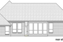European Exterior - Rear Elevation Plan #84-606