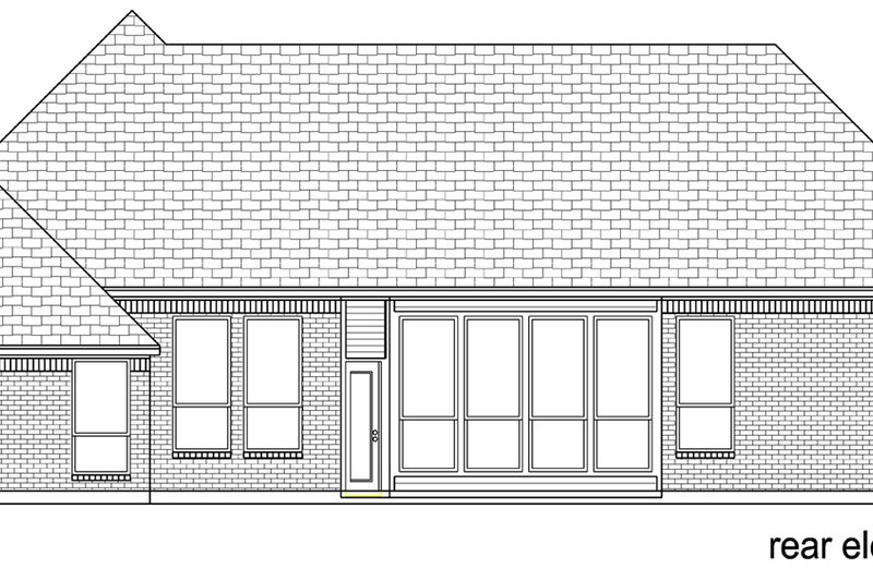European Exterior - Rear Elevation Plan #84-606 - Houseplans.com