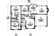Traditional Style House Plan - 4 Beds 3 Baths 3493 Sq/Ft Plan #25-4610 Floor Plan - Main Floor Plan