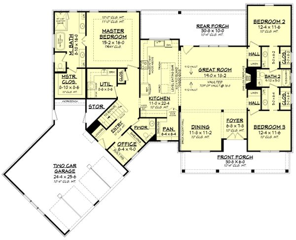 Farmhouse Floor Plan - Main Floor Plan Plan #430-231