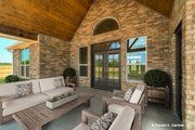 Ranch Style House Plan - 3 Beds 2 Baths 1818 Sq/Ft Plan #929-1002 Exterior - Covered Porch
