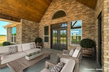 Ranch Exterior - Covered Porch Plan #929-1002