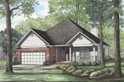 Country Style House Plan - 3 Beds 2 Baths 1892 Sq/Ft Plan #17-181 Exterior - Front Elevation