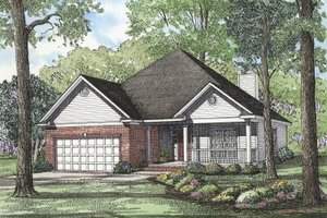 Country Exterior - Front Elevation Plan #17-181