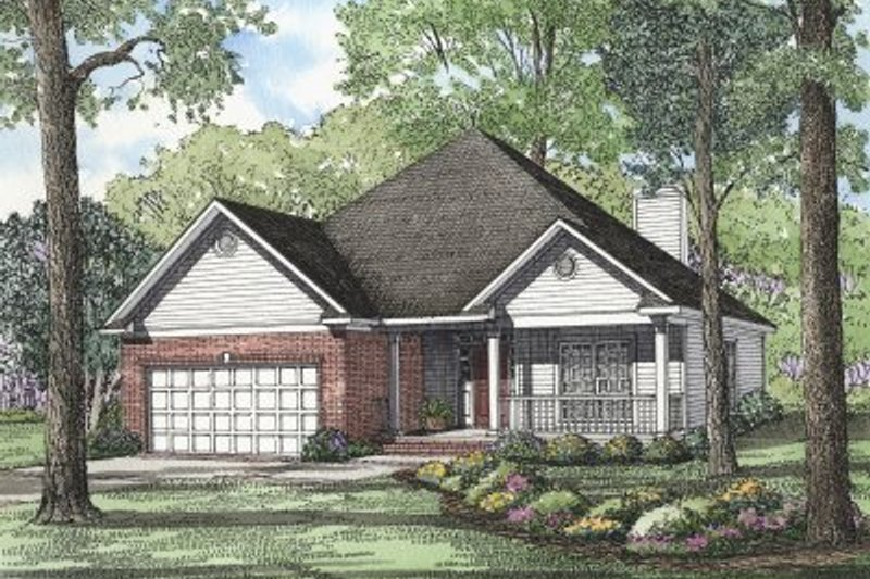 House Plan Design - Country Exterior - Front Elevation Plan #17-181