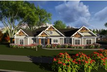 Ranch Exterior - Front Elevation Plan #70-1277