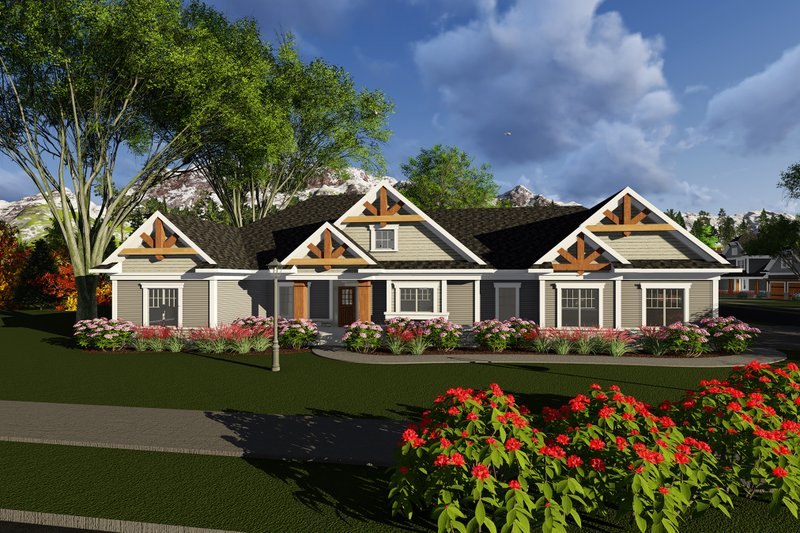 Home Plan - Ranch Exterior - Front Elevation Plan #70-1277