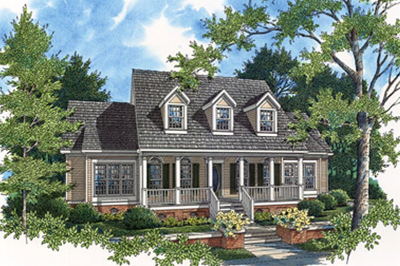 Southern Style House Plan - 4 Beds 4 Baths 2535 Sq/Ft Plan #45-229 Exterior - Front Elevation