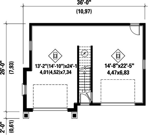 Traditional Floor Plan - Main Floor Plan Plan #25-4622