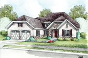 European Style House Plan - 1 Beds 2 Baths 1777 Sq/Ft Plan #20-2145